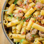 5-Ingredient Sausage and Sweet Pepper Pasta