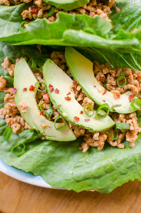 Healthy chicken lettuce wraps come together in 20-minutes with no added sugar and a combination of ginger, lime juice and smoked paprika.