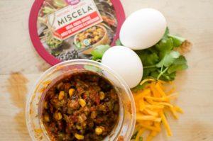 Quick Mexican-inspired breakfast quesadilla recipe. | livinglou.com