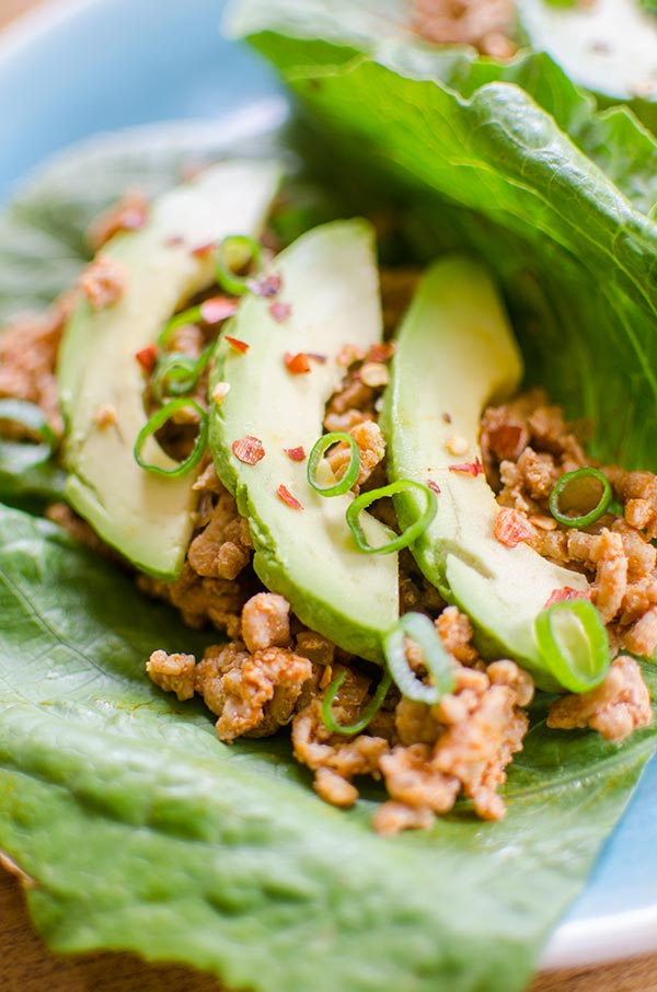 Easy chicken lettuce wraps come together in 20-minutes with a combination of ginger, lime juice and smoked paprika.