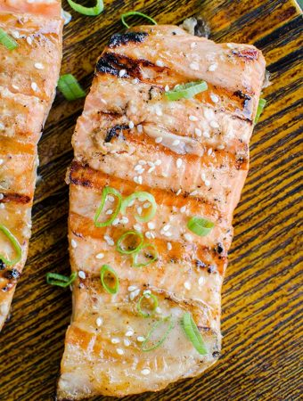 Grilled Salmon with Dijon and Maple Syrup
