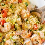 One-pot Couscous with Shrimp, Zucchini and Corn