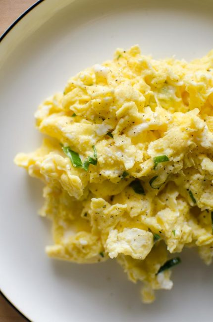 Elevate your breakfast with a restaurant worthy recipe for truffled scrambled eggs made with truffled Monterey Jack cheese. | LivingLou.com