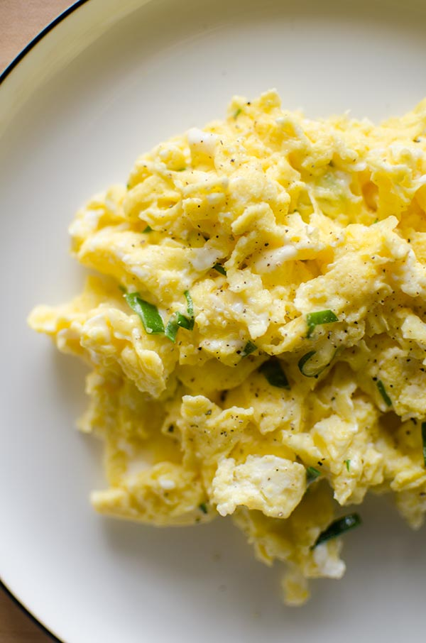 Cheesy Truffled Scrambled Eggs