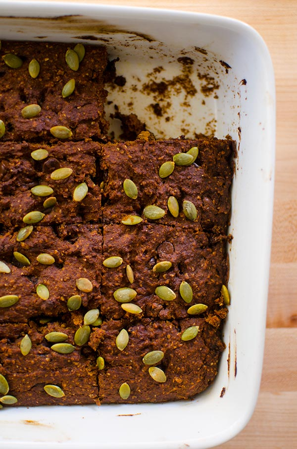 Whole wheat pumpkin chocolate chip bars living lou whole wheat pumpkin chocolate chip bars are so light and fluffy you wont even aloadofball Image collections