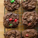 Chewy chocolate peppermint cookies are the perfect easy drop cookie for the holidays. | livinglou.com