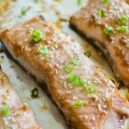 Whip up this quick teriyaki salmon recipe for dinner with a simple, homemade teriyaki marinade. | livinglou.com