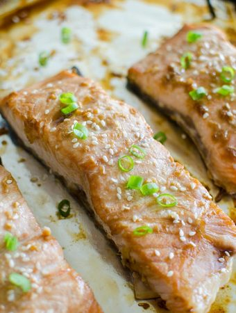 Quick Roasted Teriyaki Salmon