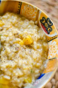 Celebrate the fall with a delicious and creamy butternut squash risotto. | livinglou.com