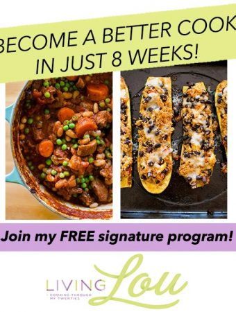 Become a better cook in 8 weeks free program. | livinglou.com