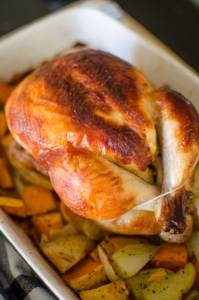 Buttermilk roast chicken is a simple recipe for the most tender, juicy roast chicken with dark, crispy skin. Marinate overnight in a mixture of buttermilk, herbs, garlic, salt and pepper for a juicy and tender roast chicken.| livinglou.com